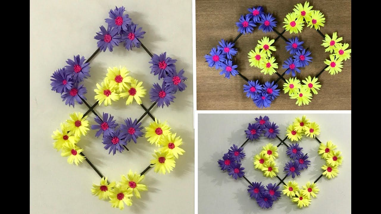 How To Make Paper Flower Wall Hanging Tutorial Paper Flower