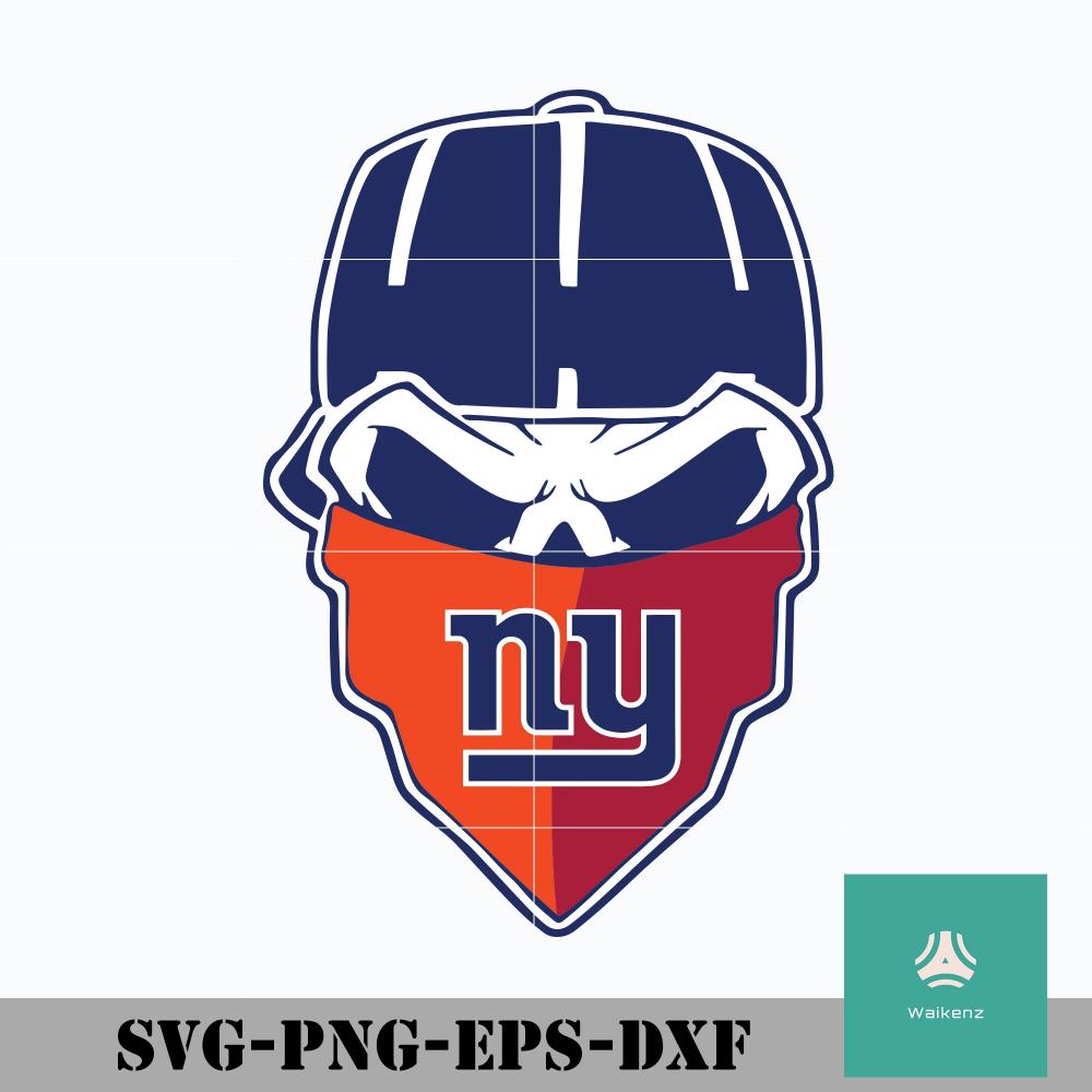 New York Giants Skull Logo Svg New York Giants Svg Giants Svg Nfl Svg Png Dxf Eps Digital File Skull Logo New York Giants Svg