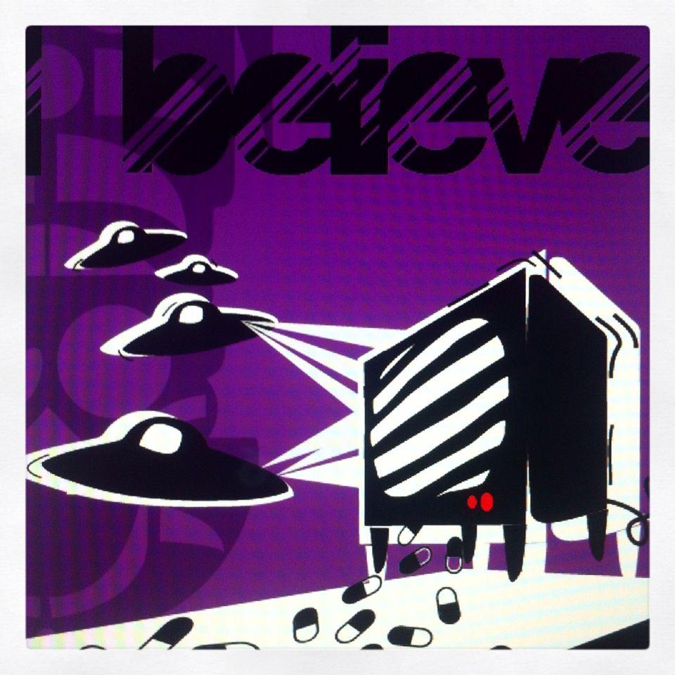 Gli alieni ci salvano dalla tv spazzatura! #popart #sloart #digitalart #artwork #Ibelieve