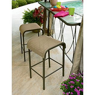 Garden Oasis Grandview 2 Pk Sling Bar Stool For Hexagon Gazebo