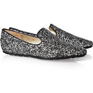 Jimmy Choo Round-Toe Glitter Loafers sale visit purchase for sale free shipping explore NlqGZxce