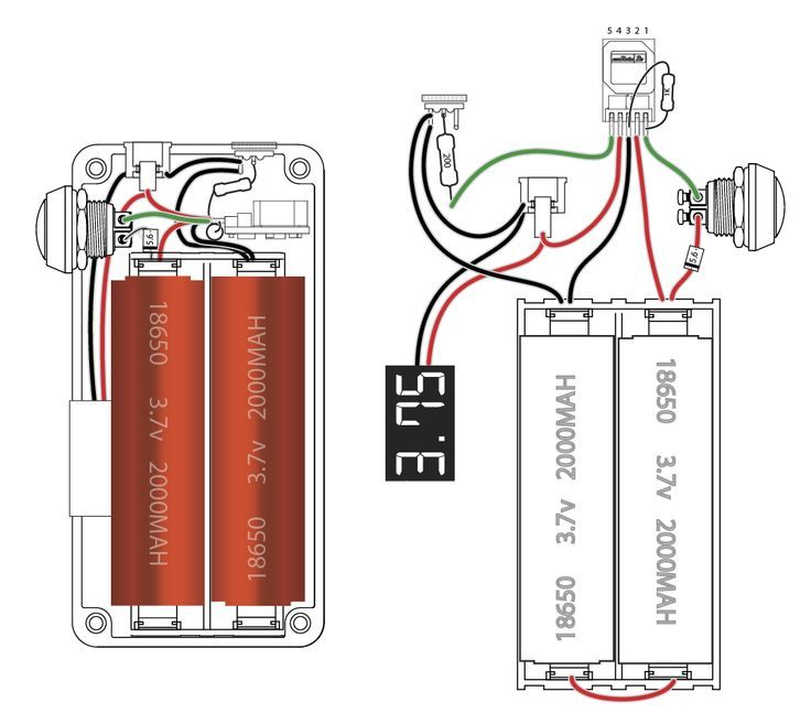 18650 box mod wiring diagram 18650 box mod build wiring