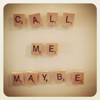 Scrabble magnets! cool idea