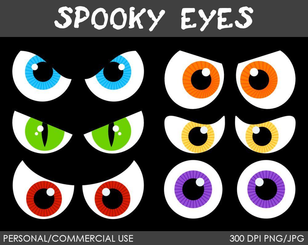 Spooky Eyes Clipart Digital Clip Art Graphics Por Mareetruelove 3 00 Spooky Eyes Scary Eyes Halloween Eyes