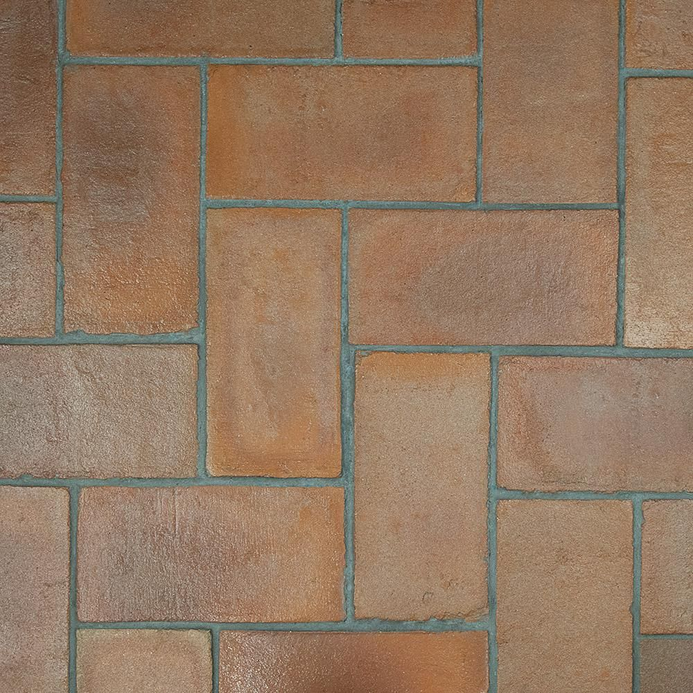 Merola Tile Trevol Rectangle 5 1 2 In X 10 3 4 In Spanish Terra Cotta Ceramic Floor And Wall Paving Tile Fgdtrrtc The Home Depot Flooring Ceramic Floor Merola Tile