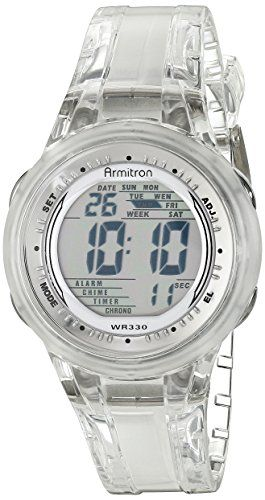 Armitron Sport Womens 457051CLR Digital Clear Jelly Strap Watch ** For more information, visit image link.