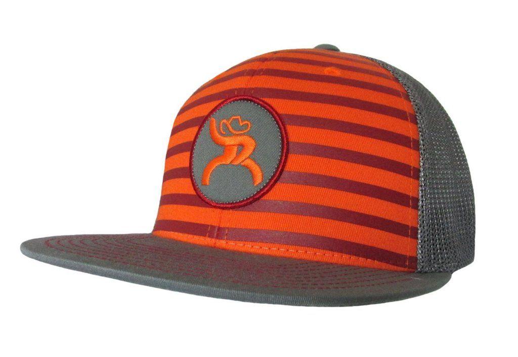 KIDS Roughy ORANGE CHUTE Snapback Cap ~ hooey hat ~ flat or curved ... e53c82e76570