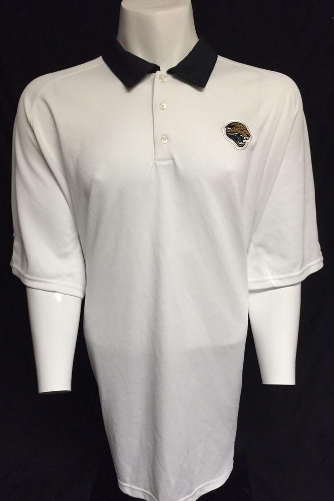 4ac709c1d Jacksonville Jaguars Nike Dri-Fit White Black XXXL Short Sleeve Polo Shirt  3XL #Nike #JacksonvilleJaguars