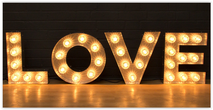 Rent Marquee Letters Light Up Love Sign Light Bulb Letters Light Up Signs