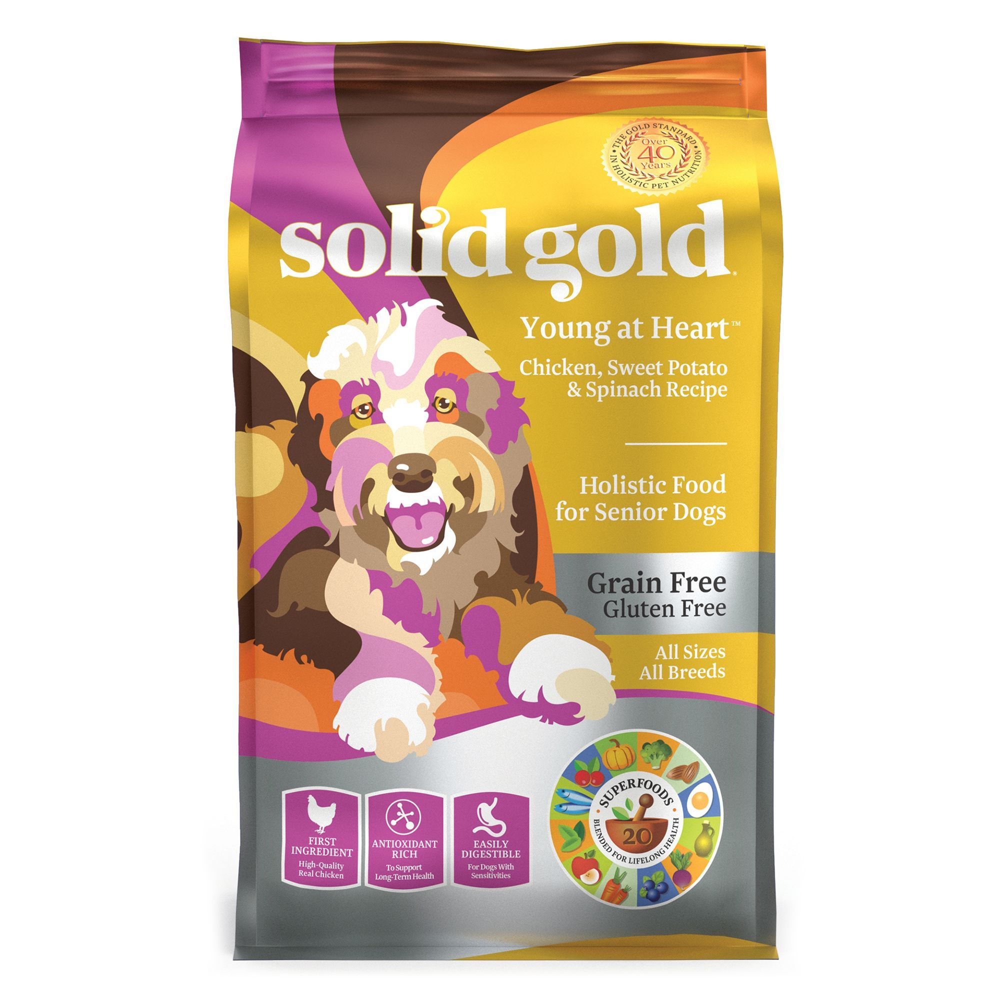 Solid Gold Young At Heart Senior Dog Food Grain Free Gluten