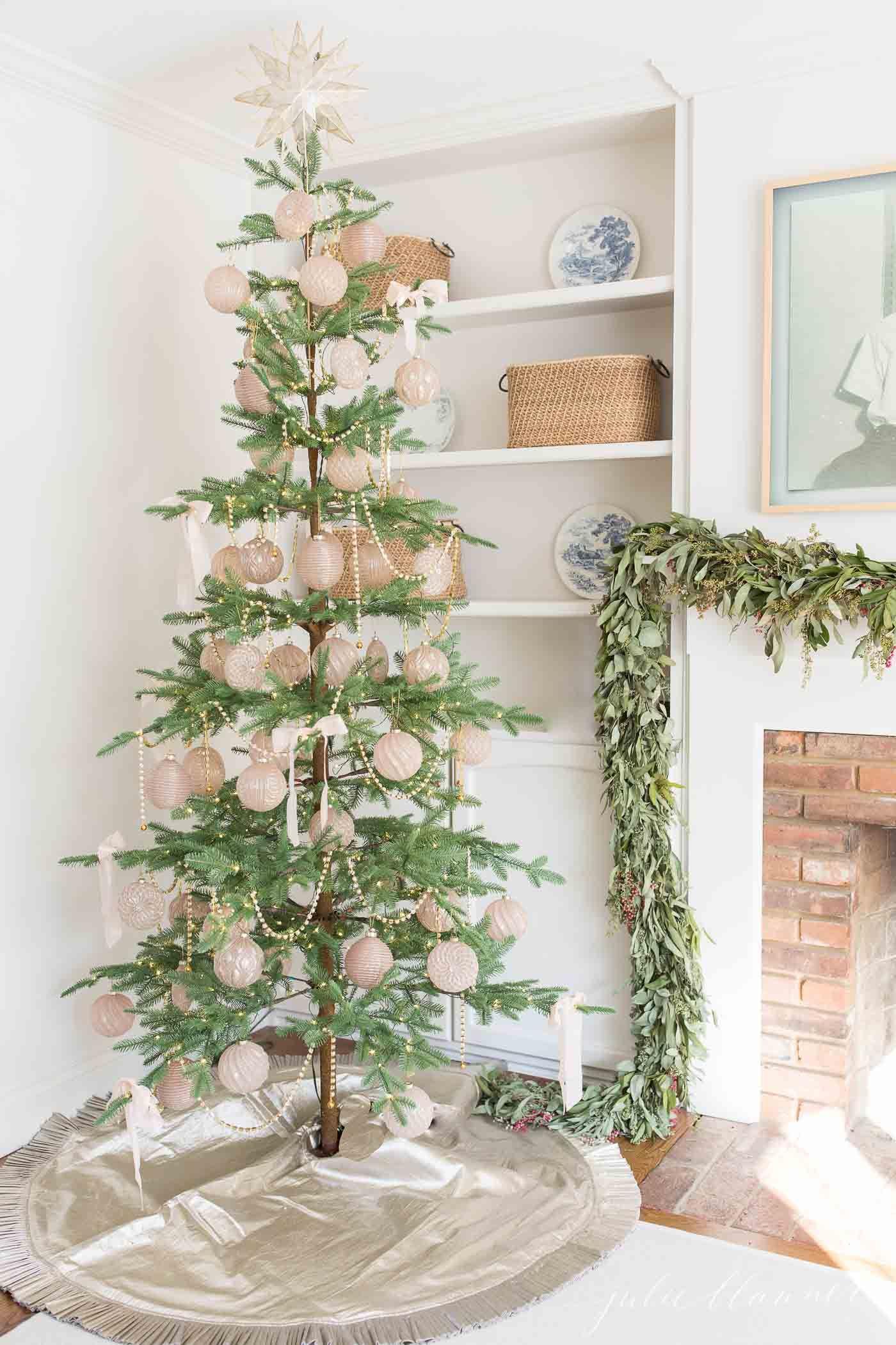 decorating a skinny tree christmas decorating