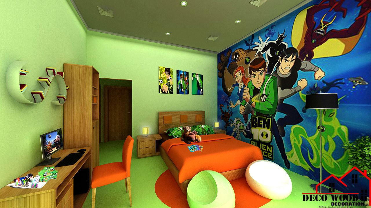 southridge project 3d design for a ben 10 boy 39 s bedroom