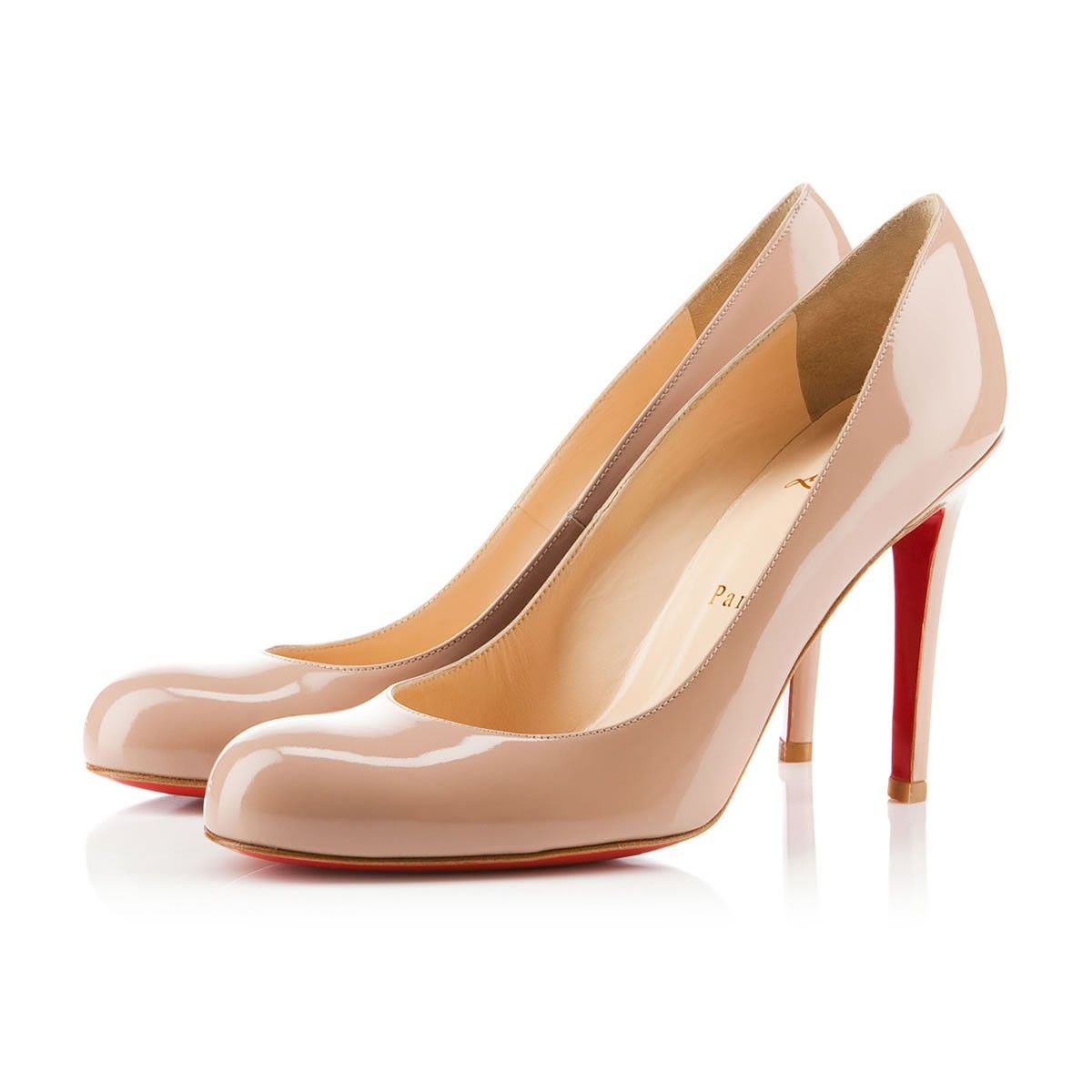 19abf07cb41a Simple Pump 100mm Nude Patent Leather. Simple Pump 100mm Nude Patent Leather  Louboutin High Heels