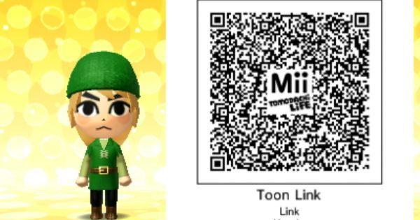 Toon Link Tomodachi Life Qr Code Evoli Dessin Humour