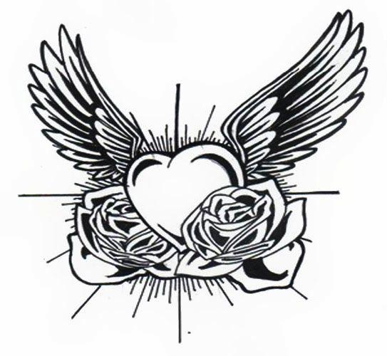 symbols mit bildern  herz mit flügeln tattoo tattoo