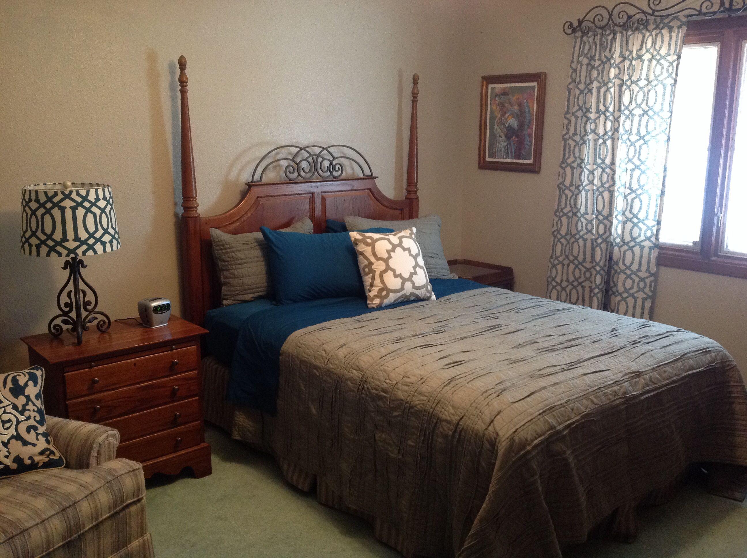 Upstairs Main House Master Bedroom Before Addition Target Threshold Raw Edge Quilt Threshold Farrah Lattice Curtain Master Bedroom Maine House Home Decor