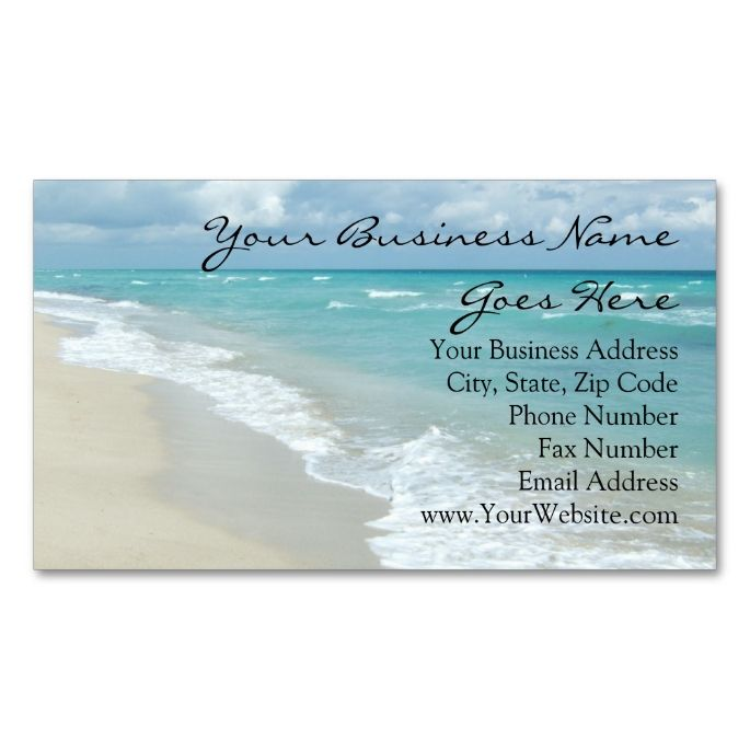 Extreme relaxation beach elegant spa travel business card travel extreme relaxation beach elegant spa travel double sided standard business cards pack of 100 make your own business card with this great design reheart Choice Image
