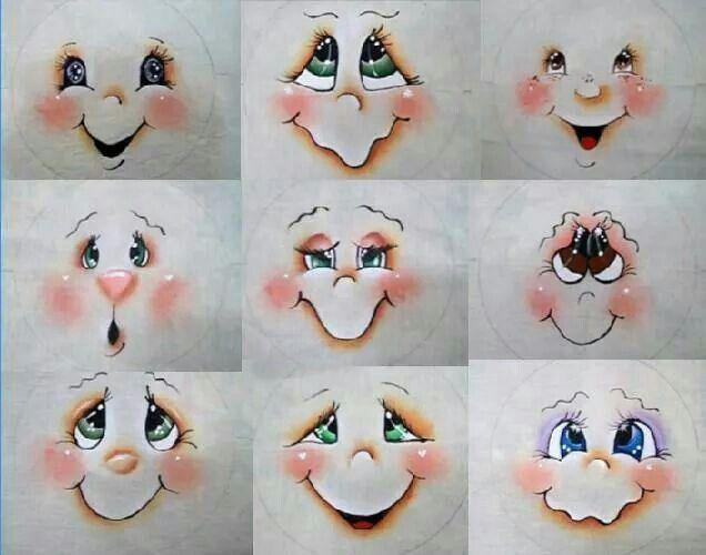 Como Pintar Olhos Passo A Passo Caritas Artesanatos De Boneco