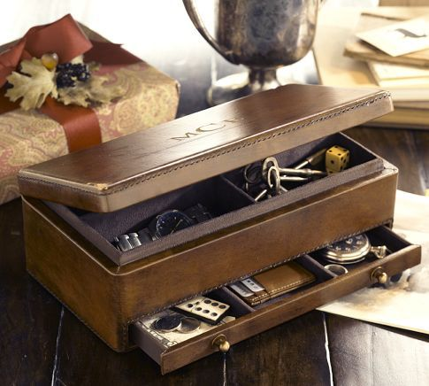 Saddle Leather Valet Leather Jewelry Box Leather Watch Box