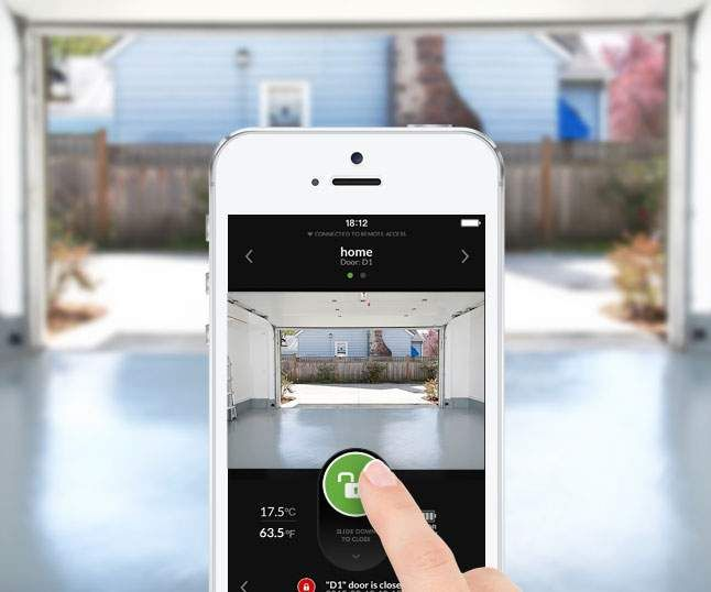 opener smartphone from smart garage pin doors door phone