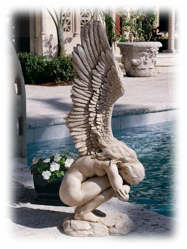 Remembrance Redemption Kneeling 30 5 Inch Outdoor Angel Sculpture Patung Ukiran Patung Lukisan