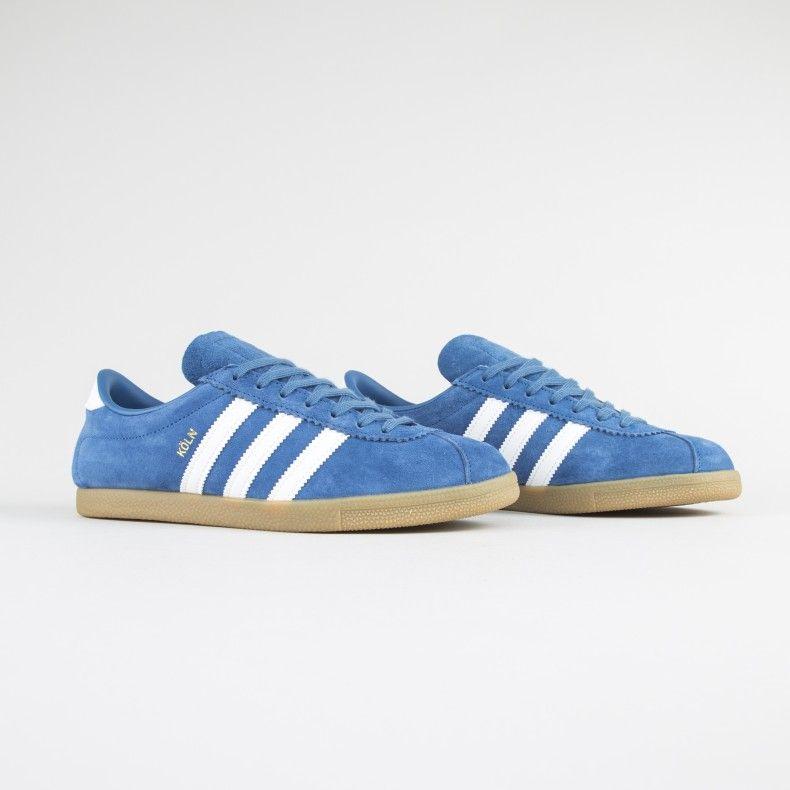 Adidas Originals Koln City Series Core Blue Footwear White Gum 4 Adidas Vintage Sneakers Adidas Originals