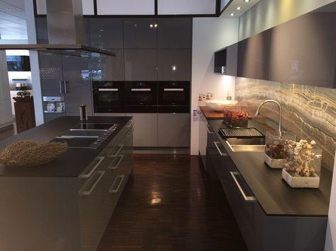 poggenpohl Hochglanz Lack steingrau HL1107 (Nr 2104882) Küche - küche hochglanz oder matt