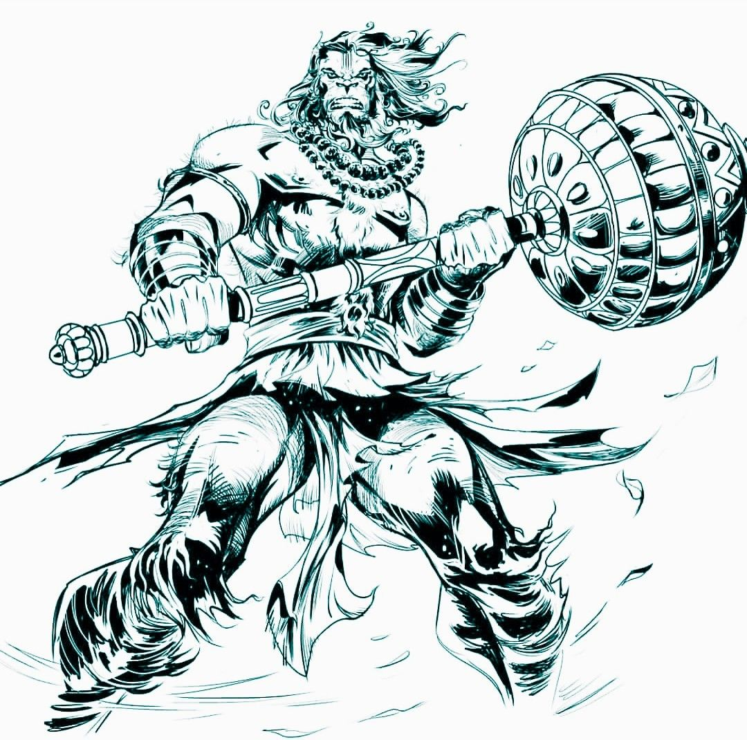 Hanuman Hanuman Tattoo Lord Hanuman Wallpapers Hanumanji Hanuman tattoo hd wallpaper
