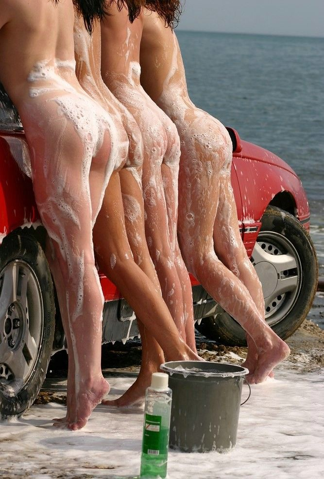 4 Naked Girls Washing A Red Car Foxbox  Avarice Via -7374