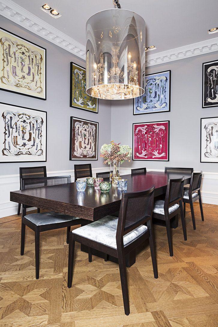 Emilia De Porets Home Frame Herms Scarfs Framed ArtworkFramed WallDining Room