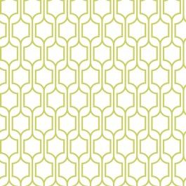 Kb8651 Trellis From Bistro 750 Is A White Wallpaper With Lime Green Oriental Geometric Lattice Pattern
