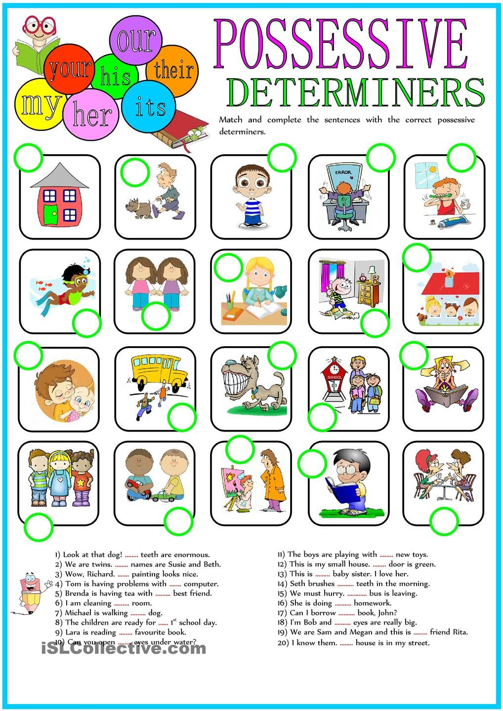 hight resolution of POSSESSIVE DETERMINERS   Determiners