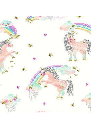 Best Rainbow Unicorn Wallpaper White Glitter Wallpaper 640 x 480