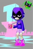 40ddde00983d Teen Titans Go! - Raven PJs by Silent-Sid