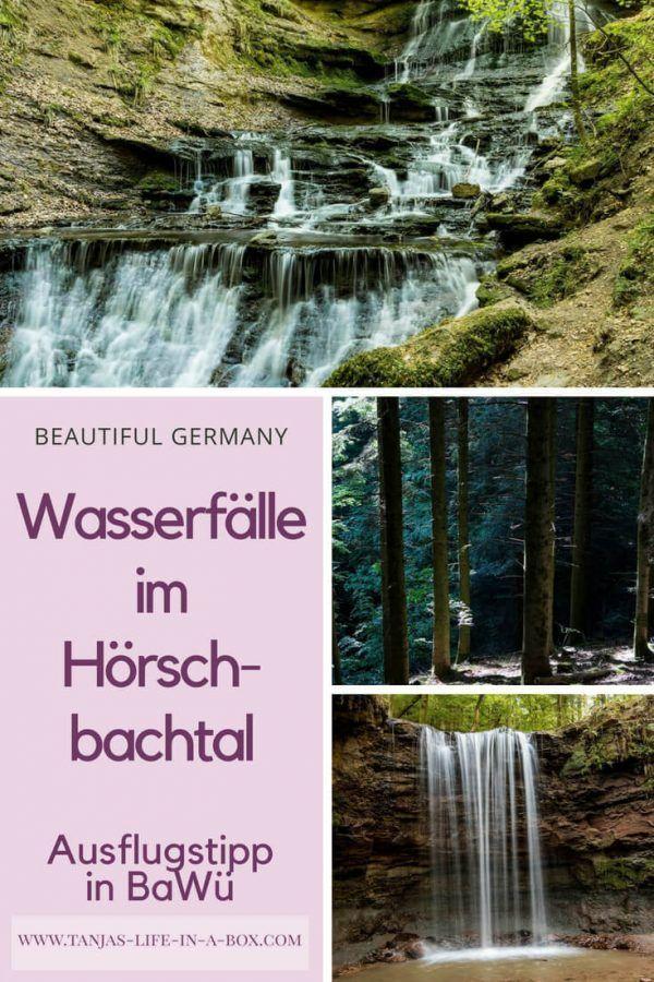 Ausflugstipp Wasserfälle im Hörschbachtal. Begleite mich auf einen Spaziergang zu zwei wunderschönen und noch recht unbekannten Wasserfällen in der Nähe von Stuttgart.  - Tanja's LIFE in a Box #Wasserfall #Wasserfälle #Reise #Travel #Ausflugstipp #Murrhardt #Hörschbachtal #Stuttgart #Wandern #Wanderung