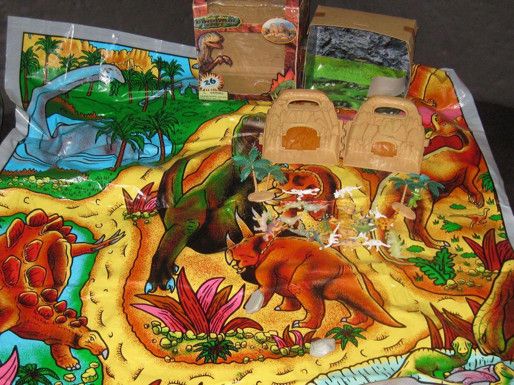 Carry Along Dinosaur Cave Playset Dinosaurs Play Mat Toy Lot Dinosaur Play Dinosaur Caves Play Mat