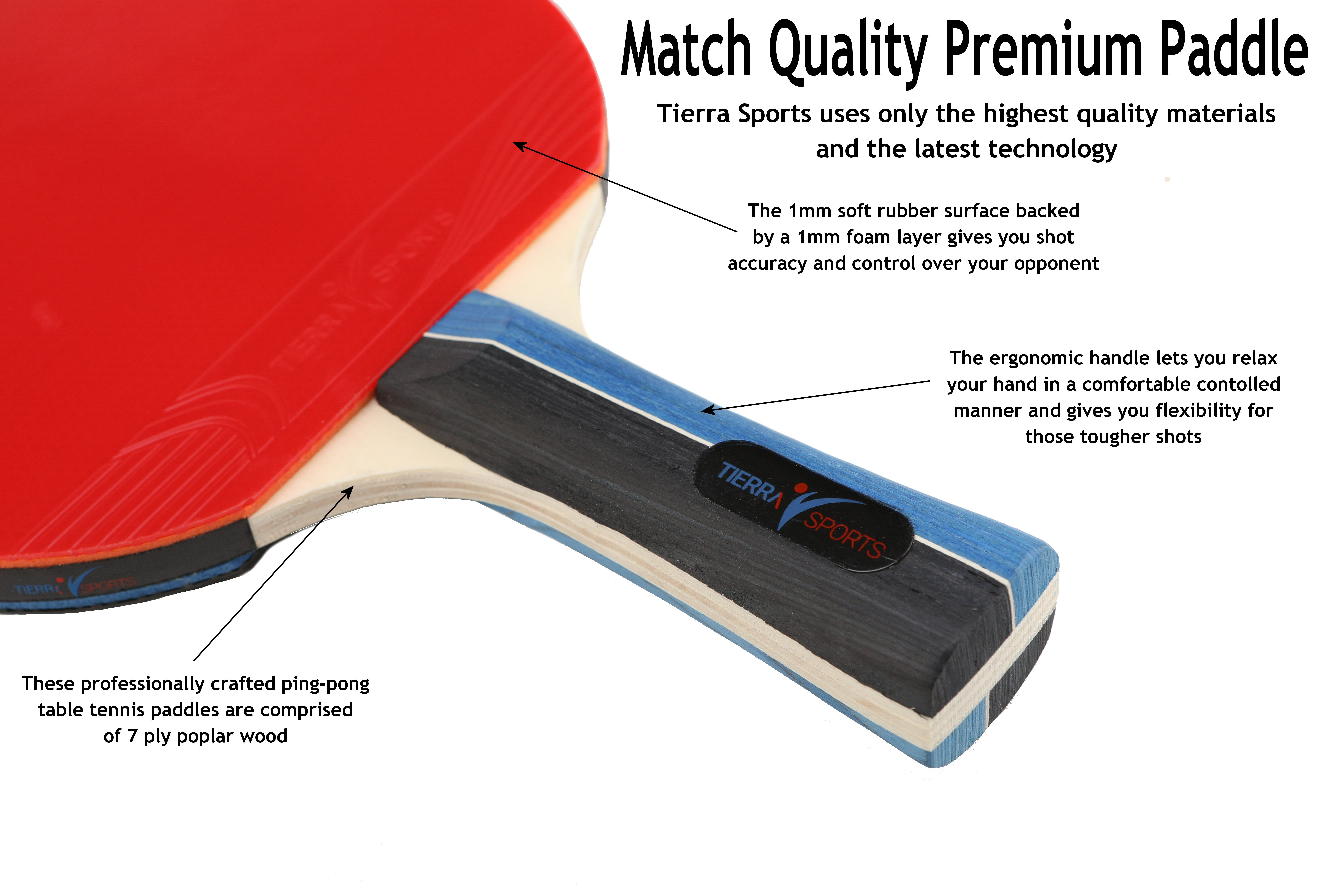 Premium Match Quality Ping Pong Paddle Set Of 4 Rackets 8 Balls And A Carry Case Check It Out Ping Pong Ping Pong Paddles Paddle
