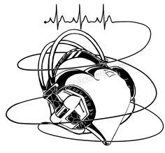 half sleeve idea...softer headphones though, more circulare. less...bubbly heart. rather have a girl though (animated)