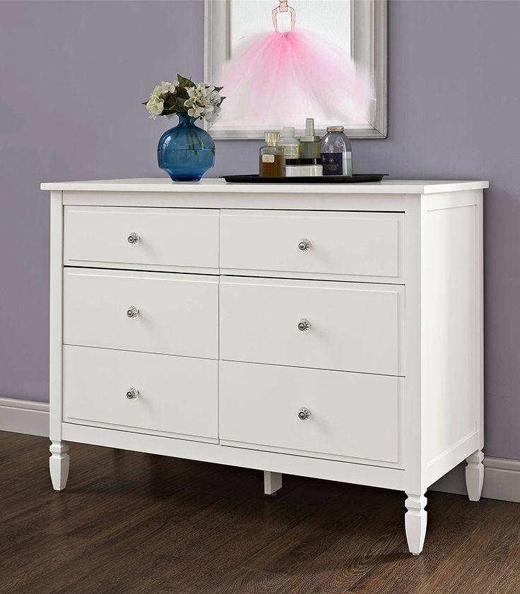 Better Homes And Gardens Lillian 6 Drawer Dresser White Walmart Com Cheap White Dresser White Bedroom Furniture White Dressers For Sale
