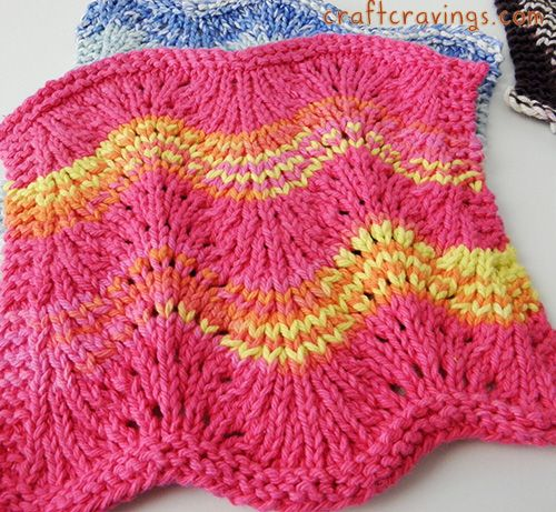 Modified Feather And Fan Dishcloth Pattern Nice I Think It Could