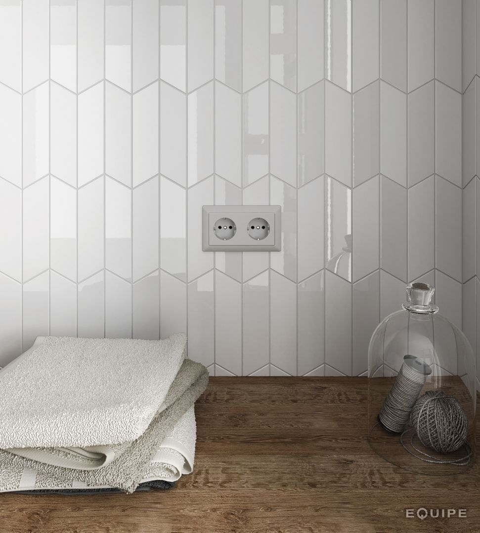 Herringbone Bathroom Wall Tile White Hexagon Mix Light | działka ...