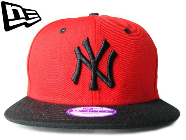 New Era 59fifty Cap Mlb Cincinnati Reds Boys Kids Youth Size Black Red 5950 Hat Clothing, Shoes & Accessories