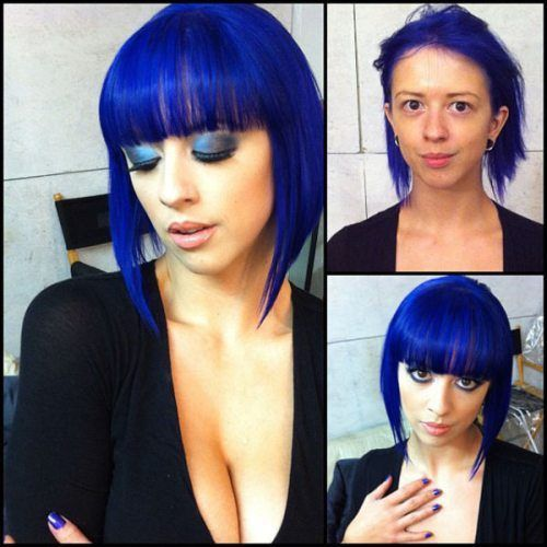 Love black blue hair crossdresser blowjob