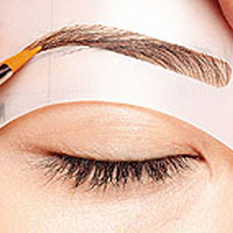 4ピース異なるスタイル眉毛ステンシルステンシルキットを構成するツール眉毛形状テンプレート用眉化粧品