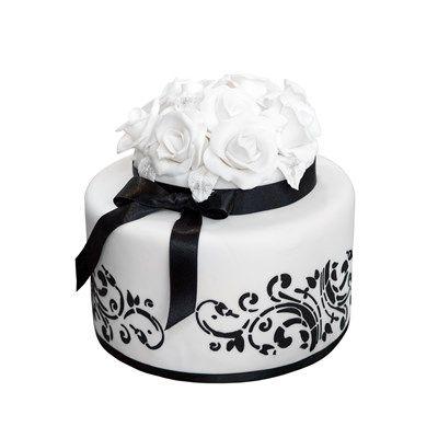 Smaller Black And White Wedding Cake Wedding Cakes