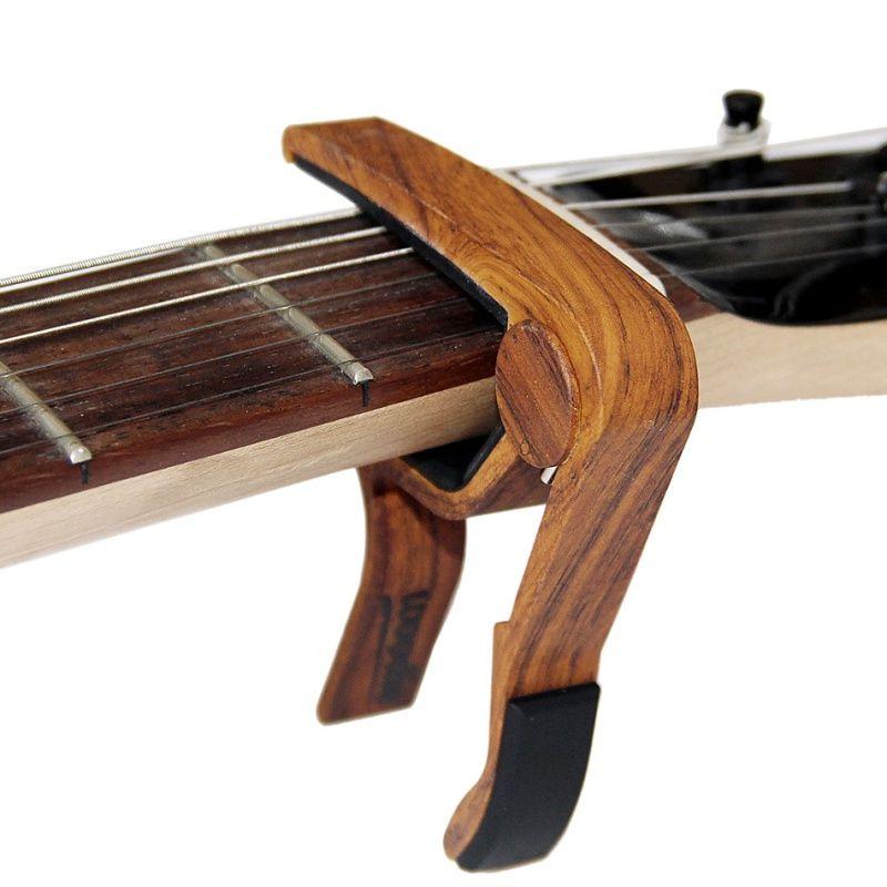 Adjust The Pitch Personalized Wood Grain Guitar Folk Guitar Flexible Transfer Folder Guitar Accessorie Electric Guitar Capo Acoustic Guitar Capo Classic Guitar
