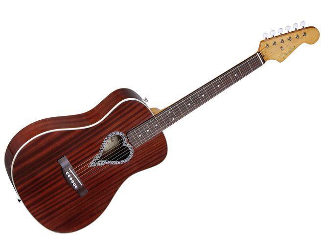 Fender Alkaline Trio Malibu Acoustic Guitar With Heart Shaped Soundhole Guitar Acoustic Guitar Washburn Acoustic Guitar