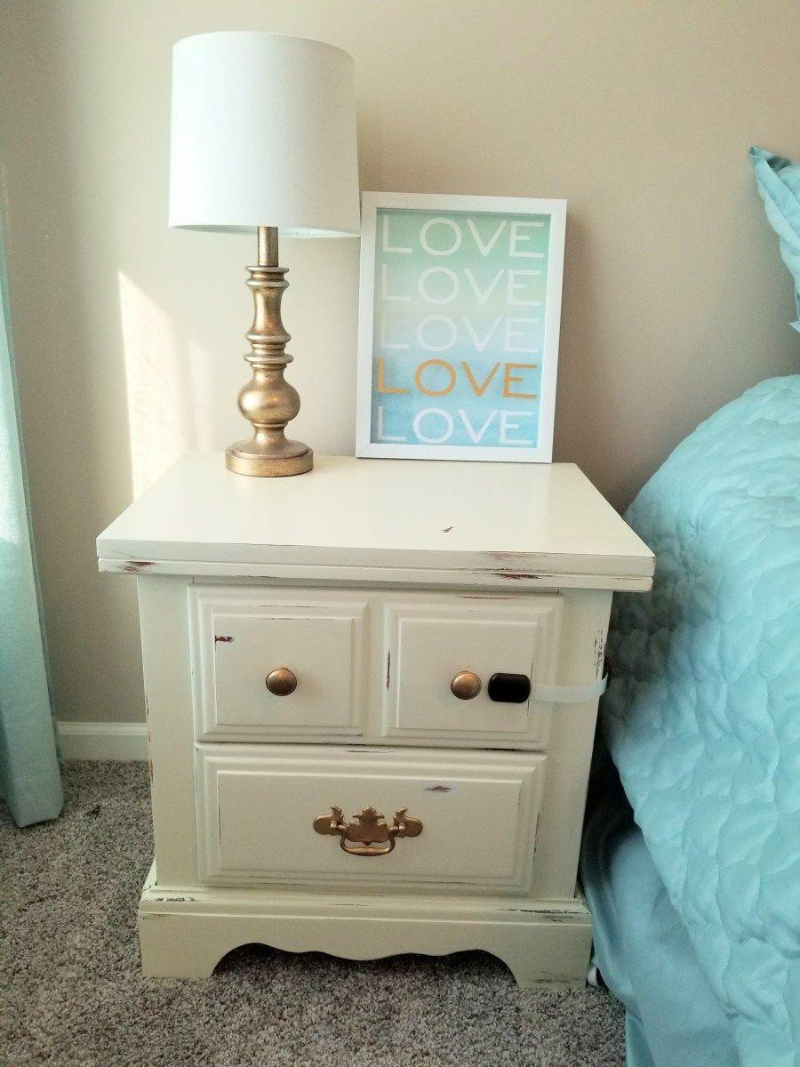 simple diy bedroom nightstand makeover  my sweet emmy