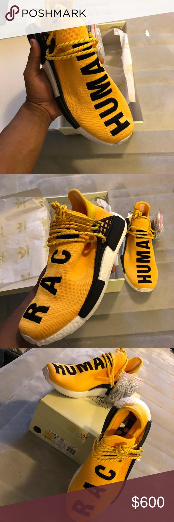 Adidas raza humana amarillo Adidas y Pharrell ven juntos una vez