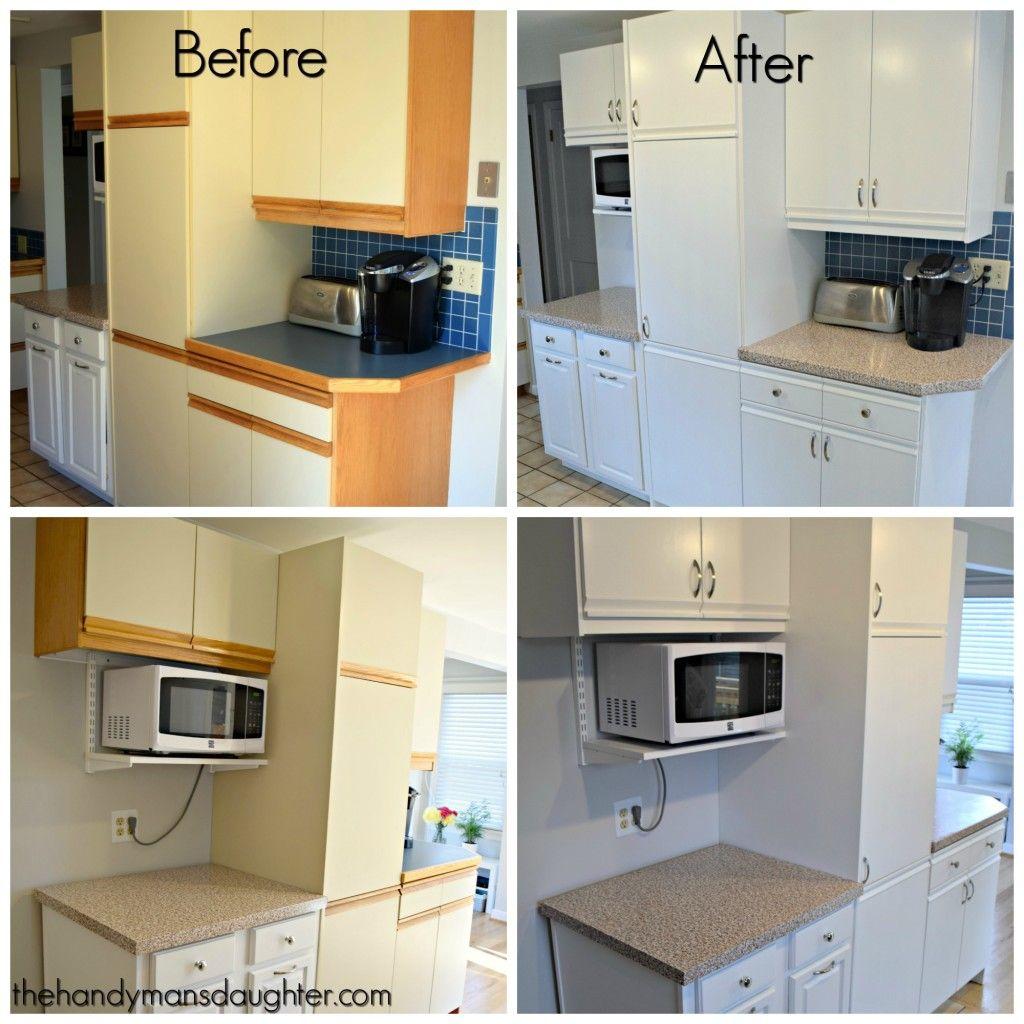 Melamine Kitchen Cabinets Cork Floor Tips For Updating With Oak Trim